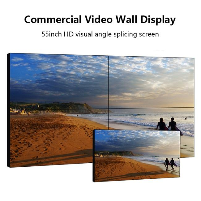Commercial Digital LCD Video Wall 2 X 2 High Refresh Rate For Information Display