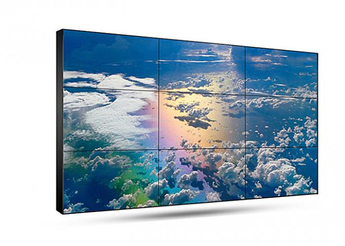55 Inch Seamless Lcd Video Wall , Full HD Thin Bezel Monitor For Video Wall