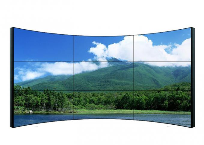 Wall Mountable Curved LCD Video Wall 3840 * 2160 Resolution For Railway Station