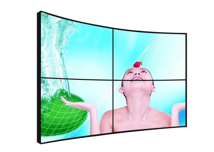 Large Curved Video Wall Displays , 55 Inch High Resolution Video Wall Monitors