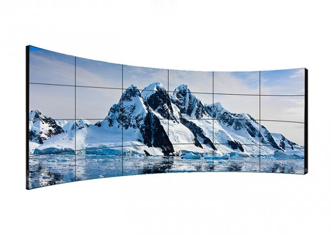 Ultra Narrow Bezel Curved Video Wall Displays , Interactive Video Wall Fast Response Time