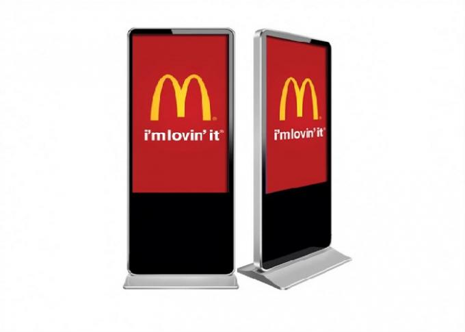 Commercial Interactive Digital Signage Screens  , Floor Standing Lcd Advertising Display
