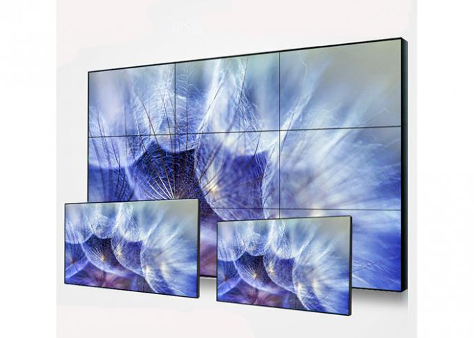 High Definition LCD Wall Display , Ultra Thin Bezel Video Wall Wide Viewing Angle