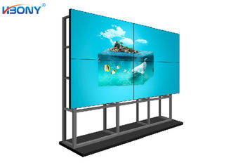 Spliging Seamless Video Wall Monitors , Floor Standing Bezel Less Video Wall