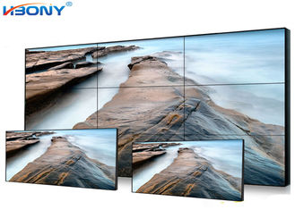 Seamless Wall Lcd Display  , 3 X 3 Control Room Video Wall 55 Inch For Surveillance System