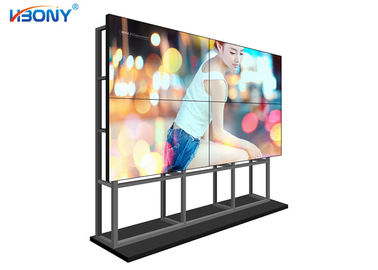 Free Standing Hd Seamless LCD Video Wall 4K Resolution For Exhibition Halls