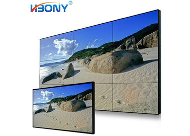 Indoor Advertising LCD Video Wall Screens , Multi Screen Tv Wall Low Heat Radiation