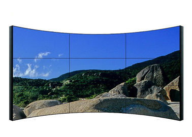 Full HD 49 Inch Curved LCD Video Wall Uitra Thin Compatible For Government Dept