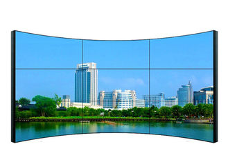 China Wall Mountable Curved LCD Video Wall 3840 * 2160 Resolution For Railway Station supplier