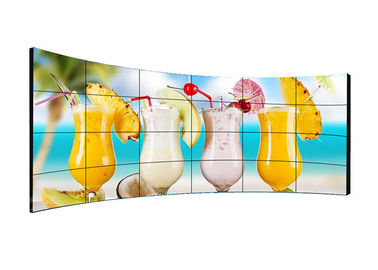 High Definition Curved LCD Video Wall Wide View Angle Clear Image With RGB / VGA / DVI