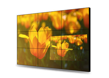 Meeting Room Free Standing Video Wall , Indoor 500nits Super Narrow Bezel Monitor