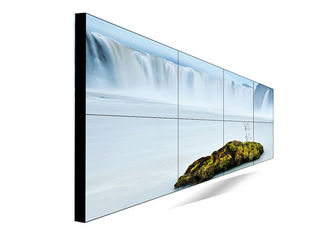 Ultra Thin Digital Signage Video Wall , Hd Video Wall With HDMI VGA DVI Port