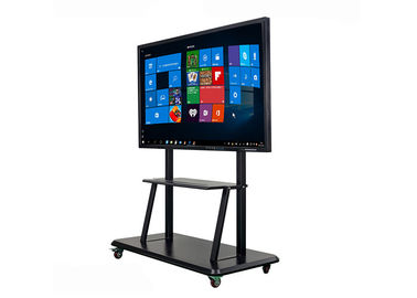 Mobile 65 Inch Smart Interactive Whiteboard IR Touch Screen CPU I3 I5 I7