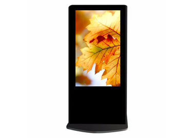 High Resolution Standing Advertising Display , Vertical Digital Signage Display