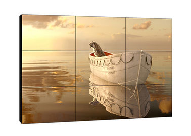 China Wall Mountable TFT  LCD Wall Display , High Brightness Bezel Less Video Wall supplier