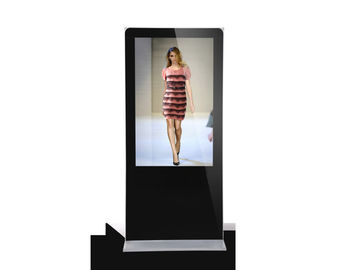 "55"" Floor Standing Advertising Digital Signage , Seamless Lcd Panels"