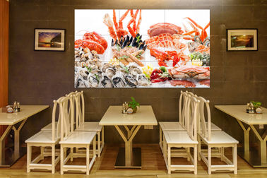 LED Backlit Lcd Screen Wall , Touch Screen Video Wall 178° Large Viewing Angle